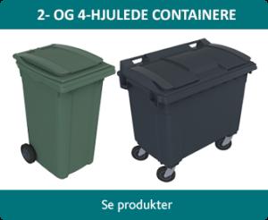 2- og 4-hjulede containere
